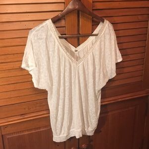Free People White Blouse Medium